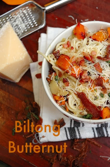 Pasta with Biltong and Butternut..Yum