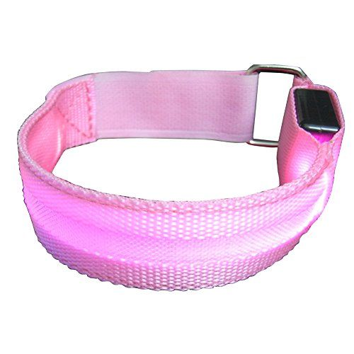 LED Sports Fitness Armband Flashing Safety Light for Outdoor Recreation Running Tennis Football Fishing Holiday Party 1 Pink L ** Be sure to check out this awesome product.Note:It is affiliate link to Amazon.