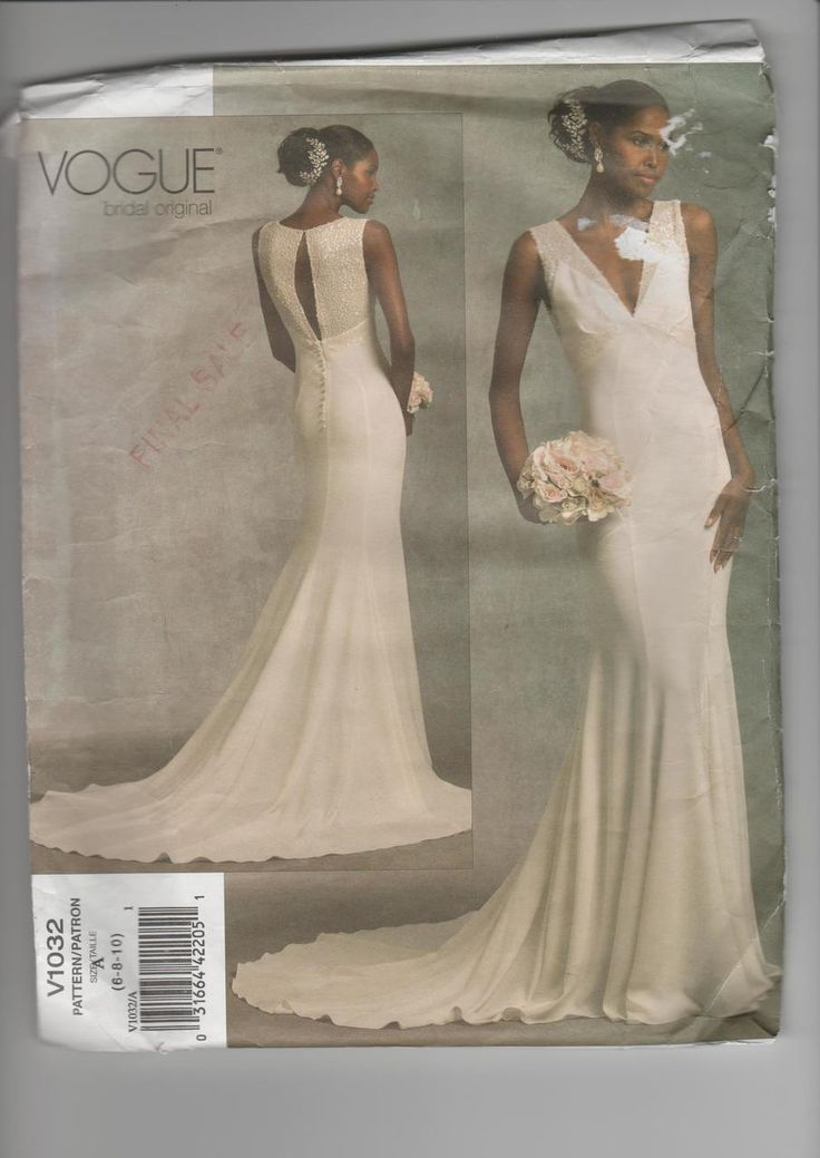 SeeSallySew.com - Bridal Original Dress w/ Train Design Vogue 1032 Pattern Sz. 6 - 10, $16.00 (http://stores.seesallysew.com/bridal-original-dress-w-train-design-vogue-1032-pattern-sz-6-10/)