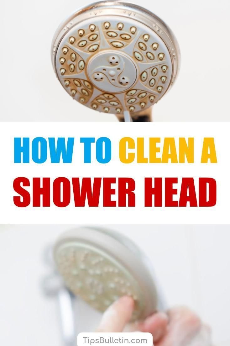 4 Reliable Ways To Clean A Shower Head Cleaning Hacks Shower
