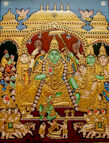 Rama Navami Special... Sri Rama Pattabhishekam Tanjore Painting