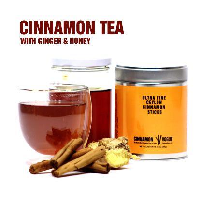 Discover the art of making Cinnamon Tea with Ceylon Cinnamon sticks, ginger and honey.