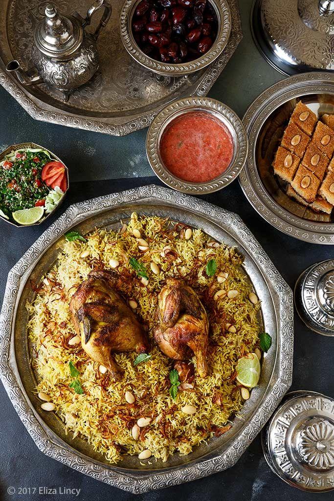 Arabic food spread picture