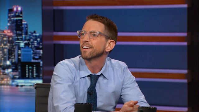 """CHECK OUT THIS INTERVIEW WITH COMEDIAN Neal Brennan as he describes his various depression treatments - including TMS - and discusses his live one-man show """"3 Mics."""" Source: Comedy Central/The Daily Show"""