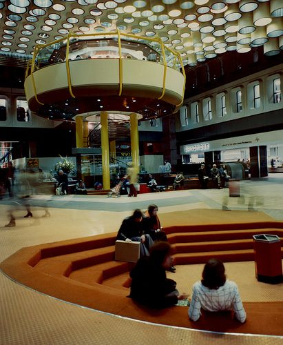 Eldon Square Shopping Centre Newcastle upon Tyne City Engineers 1976 - just look at this, absolutely glorious. What happened to those stairseats, though?!