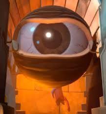 monoculus-jeden z bossów w tf2 powstał on przez to że demoman baawił sie bombikonem i wsysneło mu oko do bonbukonu