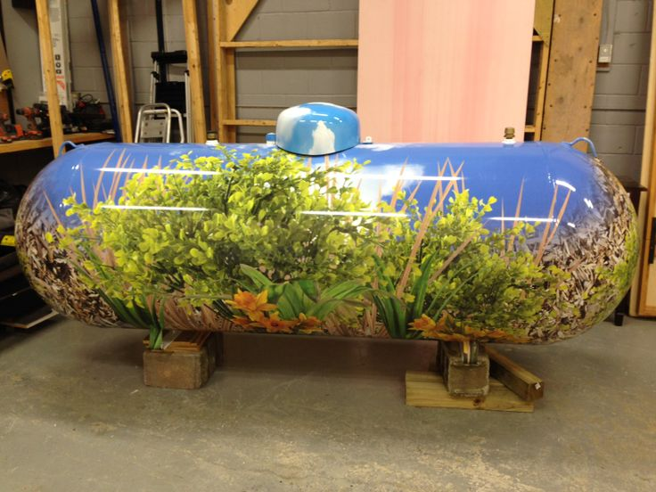 We can wrap ANYTHING! Check out this propane tank wrapped by Speedpro Imaging!