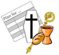 Planning templates for Catholic funeral masses.  VERY HELPFUL!  Also the site has the years liturgical calendar and other helpful tools.
