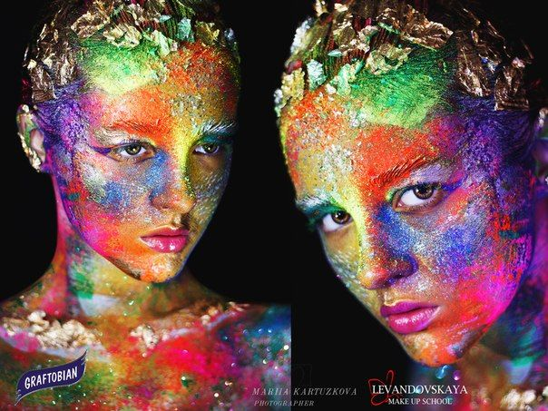 RAINBOW BEAUTY  FACE ART: Anastasia Levandovskaya  PHOTO: Mariia Kartuzkova  MODEL: Kate Sekker  Фантазийный фейс-арт выполнен косметикой Graftobian HD Make-Up (TOP Cosmetics) #Graftobian #GraftobianHD #HD#HD_MakeUP #MakeUP#MakeUp_Artist #TopCosmetics#Top_Cosmetics #Beauty #Mua#TopcosmeticsUkraine