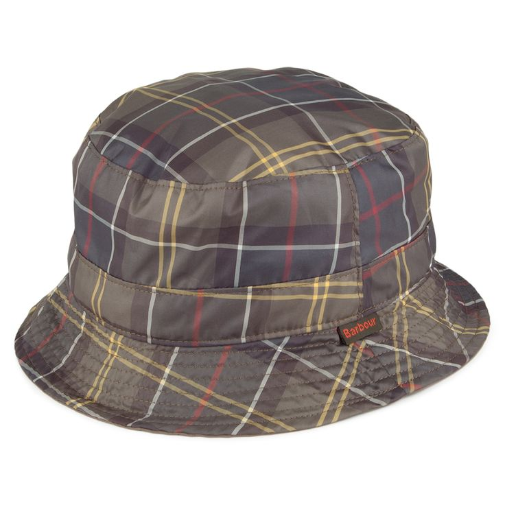 Barbour Hats Water Resistant Reversible Bucket Hat - Light Olive from Village Hats.