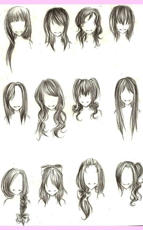 Drawing Hair Tutorial | drawing | Pinterest | Drawing Hair ...