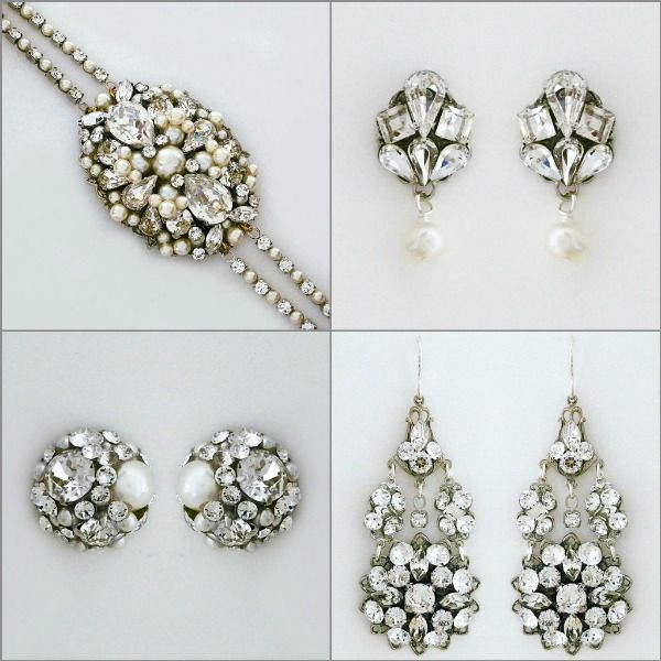 Introducing Sara Gabriel Jewelry at Perfectdetails.com Feminine, pretty bridal jewelry that complements her hair accessories and veils. http://perfectdetails.com/Sara-Gabriel-Jewelry.htm