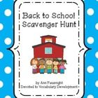 Back to School Scavenger Hunt This scavenger hunt introduces students to their classmates, classroom, and the school day.  1. Print the Back to Sch...
