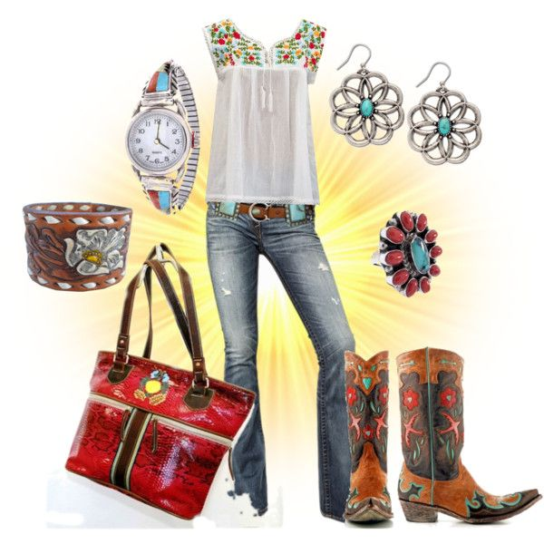 Consuela by clothes2love   Featuring Old Gringo golodrita boots #oldgringoinc