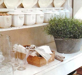 Collection of ironstone showcased in the kitchen :)