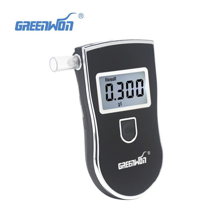 AT818S Police Black Digital Alcohol Breath Analyzer Detector Breathalyzer Tester Test car-detector alcoholmeter free shipping