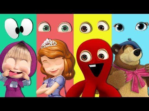 Wrong Eyes Masha Bears Pocoyo Sofia The First Finger Family Song Nursery...