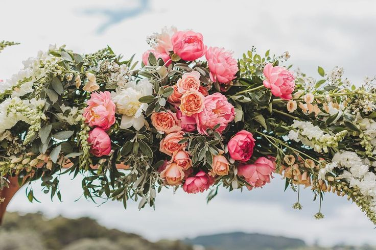 Those blooms  Had to post the archway too. Image by @coraleestone / flowers by @leafandhoney / the wedding of Holly + Anthony.