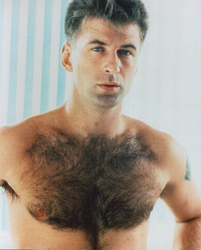 There's nothing BALD about Alec Baldwin's amazingly hairy chest!  It's like a furry forest and I want to LARP there.