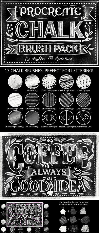 Procreate Chalk Lettering #Brush Pack - 943604