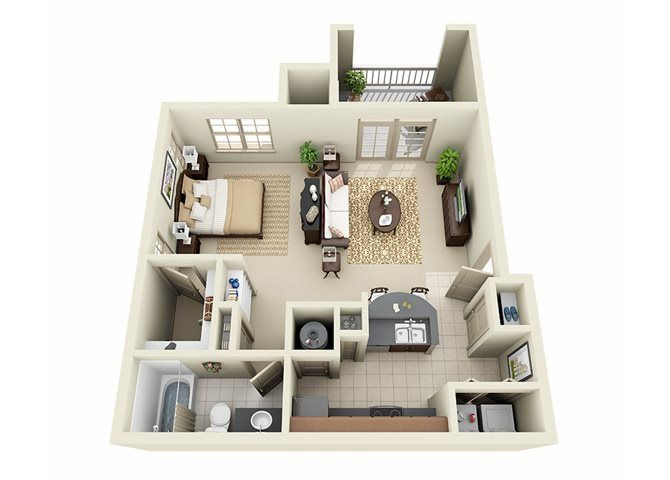 The Overlook Loft One Bed And One Bath Apartment Floor Plans Sims House Design Bedroom House Plans