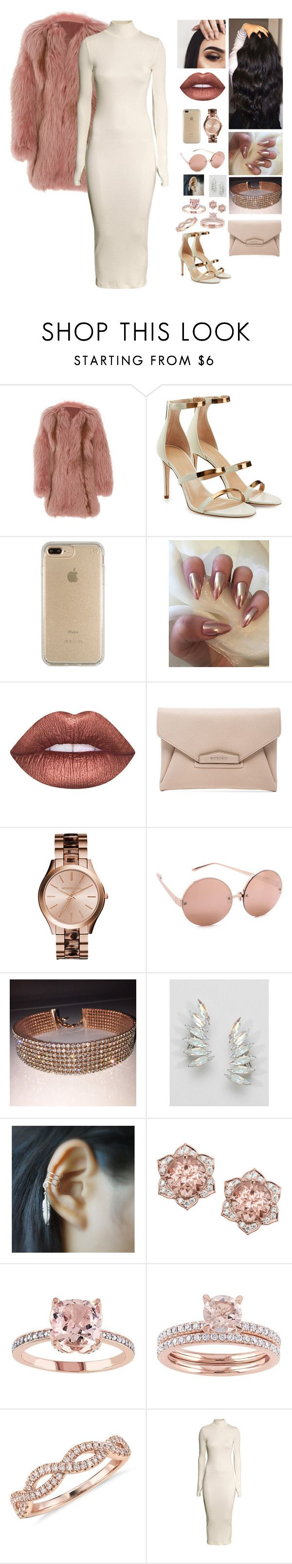 """""""Unbenannt #481"""" by aysuyucel ❤ liked on Polyvore featuring J. Mendel, Tamara Mellon, Speck, Lime Crime, Givenchy, Linda Farrow, Krystal, Blue Nile and H&M"""