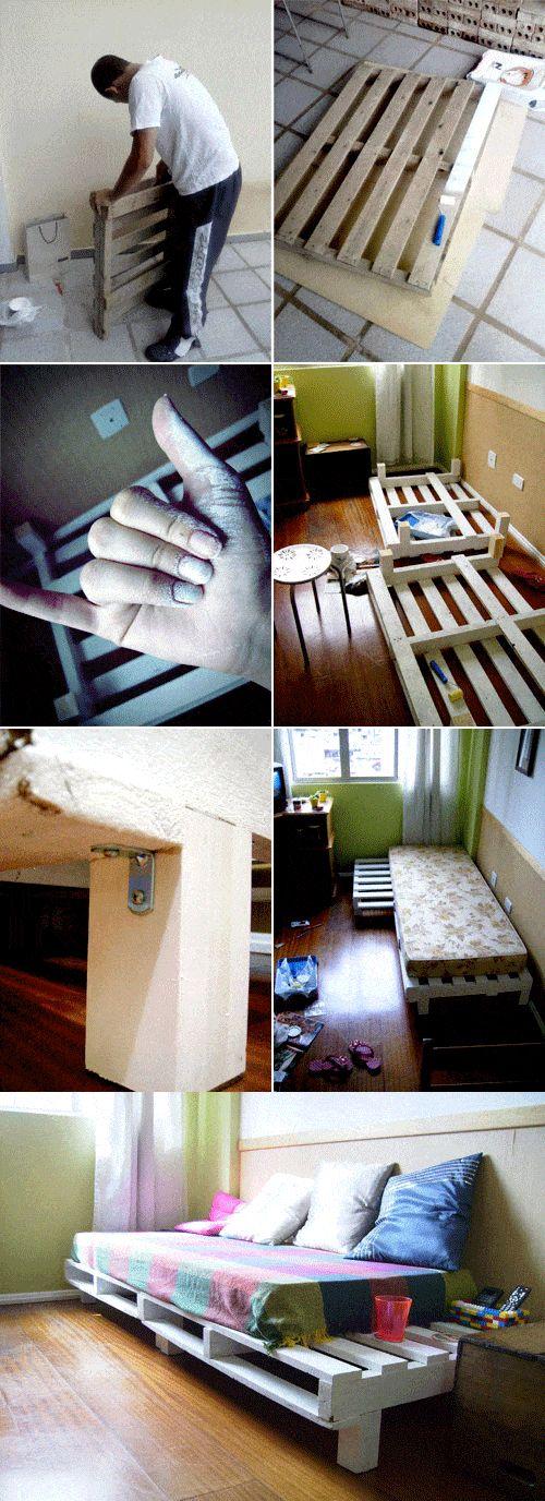 Sofá cama DIY con palés - remobilia - DIY Pallet Sofa Bed