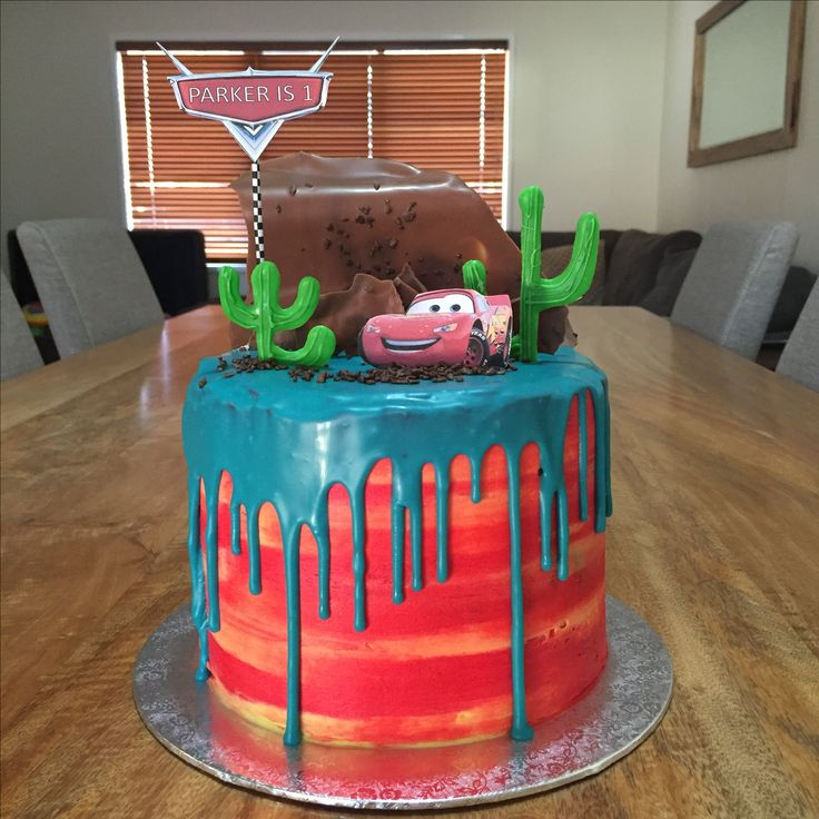 Cars drip cake - created by Carly Rae Stal
