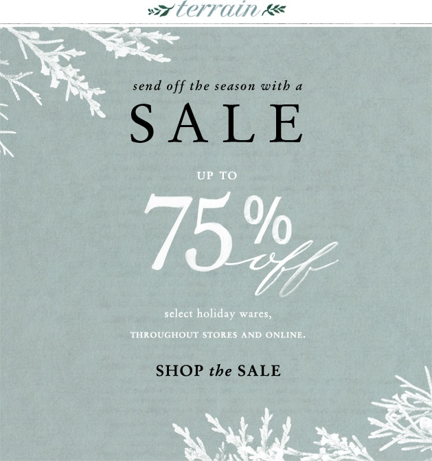 Send off the season sale with up to 75 percent off at Terrain.