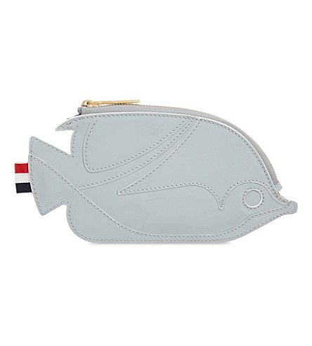 THOM BROWNE Fish Leather Coin Purse. #thombrowne #bags #patent #wallet #lining #accessory