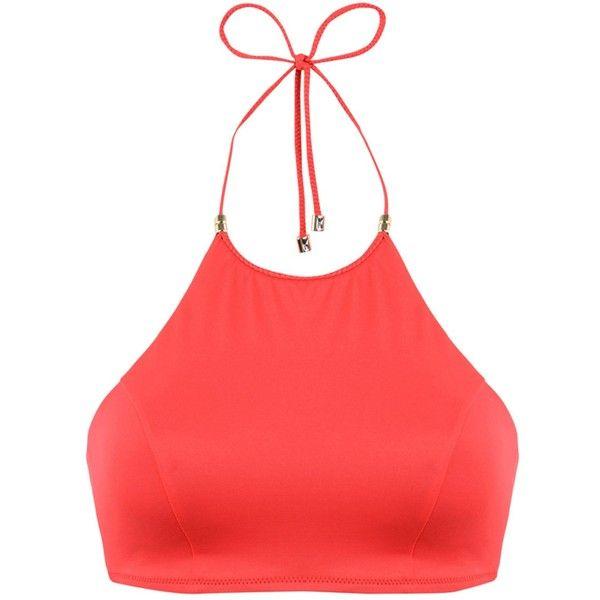 Heidi Klum Swim Bikini Top ($73) ❤ liked on Polyvore featuring swimwear, bikinis, bikini tops, red, swim wear, heidi klum bikini, red bikini, red swimsuit top and heidi klum swimwear