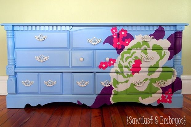 DIY Painted Dresser Technique (by Sawdust and Embryos)