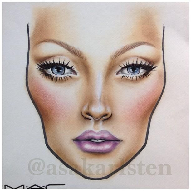 Beautiful face chart wish I was that good