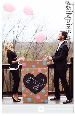 baby gender reveal, gonna do this next time instead of the cake;))