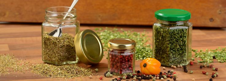 Pots à épices, à confiture, bocaux, verres (vente en demi-gros)