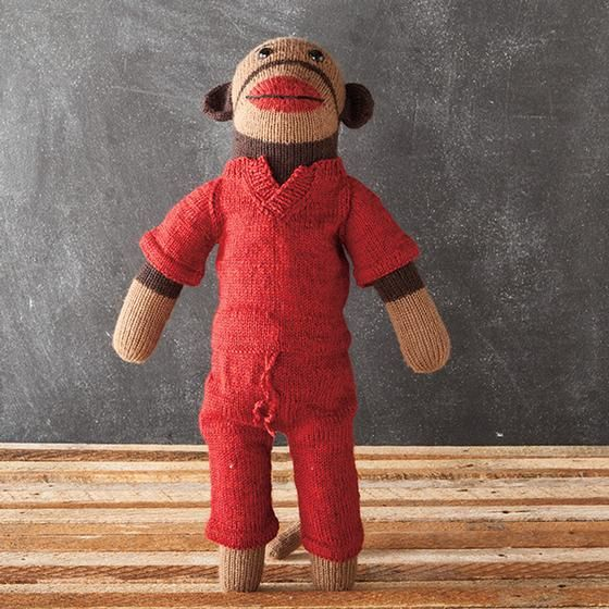 Meet the Fosters eBook - Free Monkey patterns to Knit including outfits! #Monkeyknittingpatterns