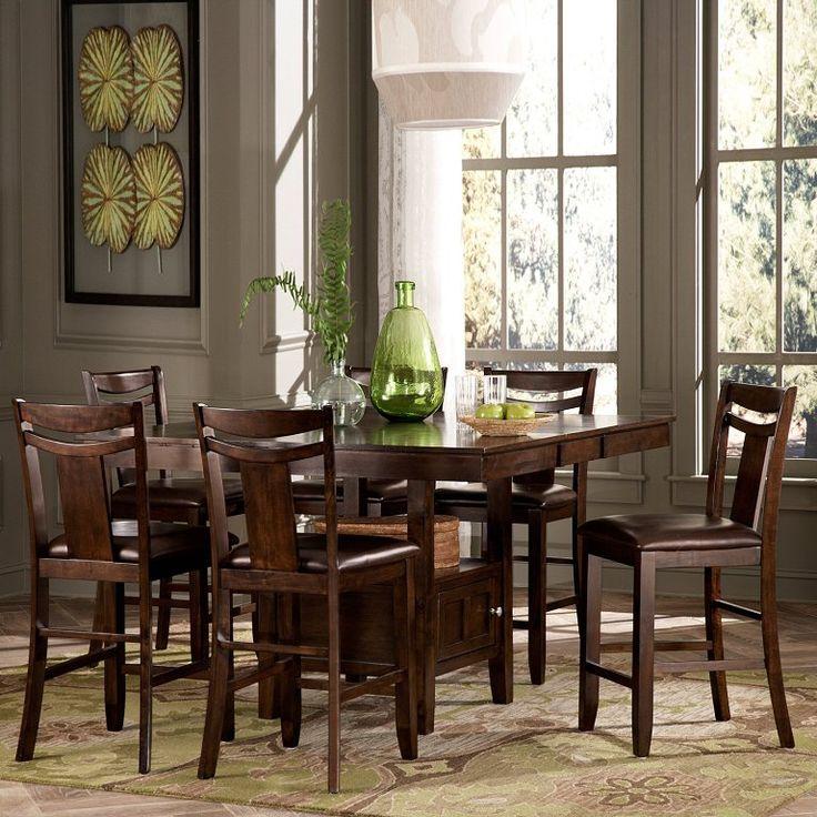 Kitchen: Brilliant Granite Counter Height Dining Table Set Also Hawthorne Counter  Height Dining Table Set
