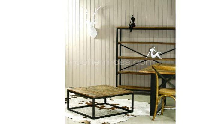 SMOLDY TB101 table design industriel mobilier moss bois metal loft poste moderne
