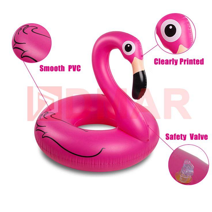 DMAR Opblaasbare Flamingo Zwemmen Ring Zwembad Float Giant Matras Mat Zwemmen Cirkel voor Volwassen Strand Zomer Water Game Party Toy