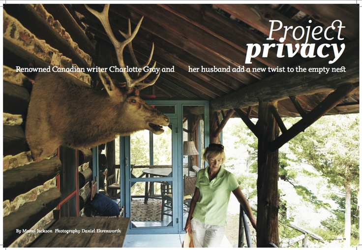 """Gold winner in Portrait #Photography. """"Project Privacy"""" by Daniel Ehrenworth published in #Cottage Life, 2011."""
