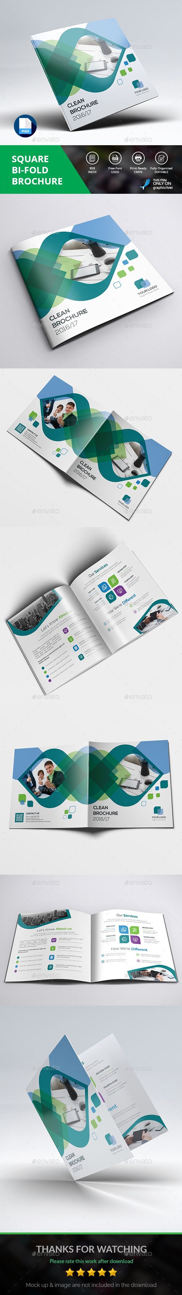 Square Brochure — Photoshop PSD #brochure template #standard • Download ➝ https://graphicriver.net/item/square-brochure/18765081?ref=pxcr