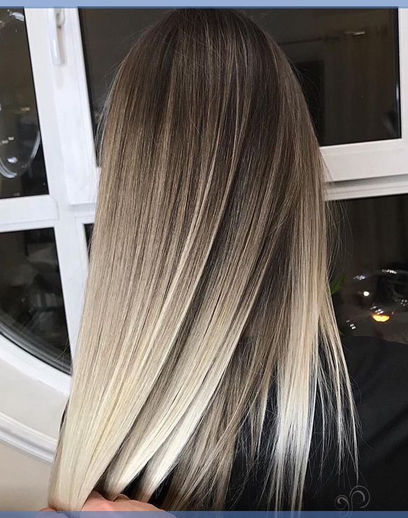 Braune haare mittellang