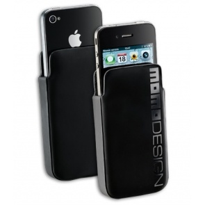 HUSA MOMODESIGN MOMOHSLIPHONE4BK HARD BLACK SLEEVE PT. IPHONE4/4S