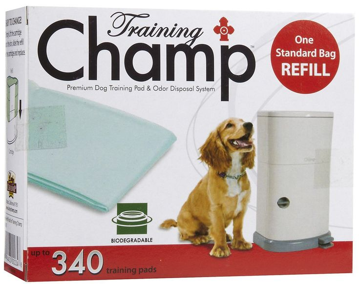 The Training Champ Disposal System makes it easy for you! It's simple to use and the 7-gallon capacity canister makes the disposal of your dog's training pads convenient and odor-free, sealing the odo
