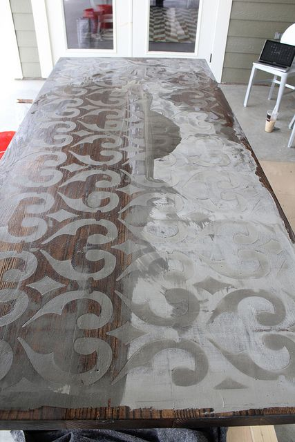CUSTOM WOOD AND CONCRETE TABLE TOP by karapaslay, via Flickr