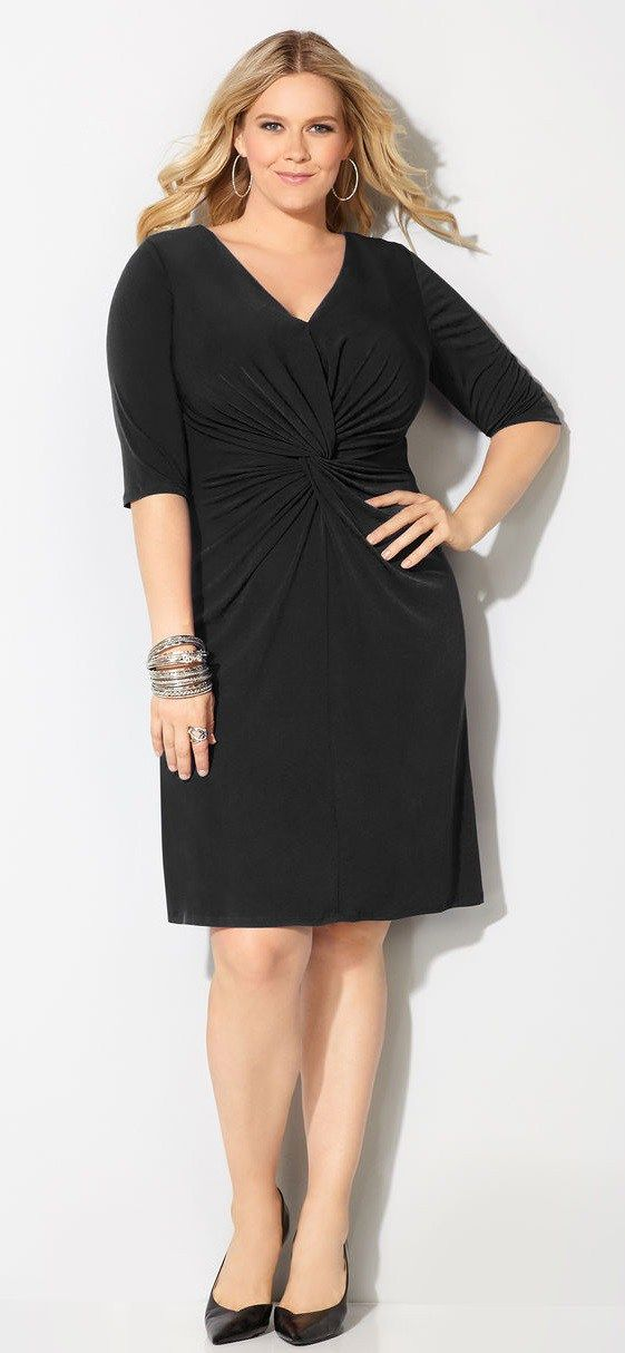 1000  ideas about Black Dress With Sleeves on Pinterest  Dresses ...