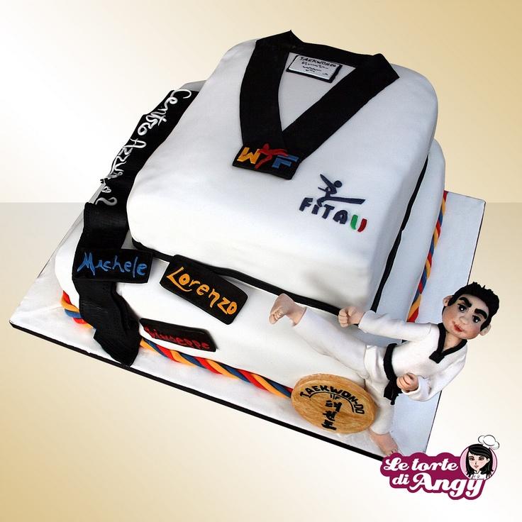 Le torte di Angy: Cintura nera Taekwon-do cake