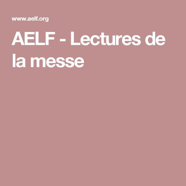 AELF - Lectures de la messe