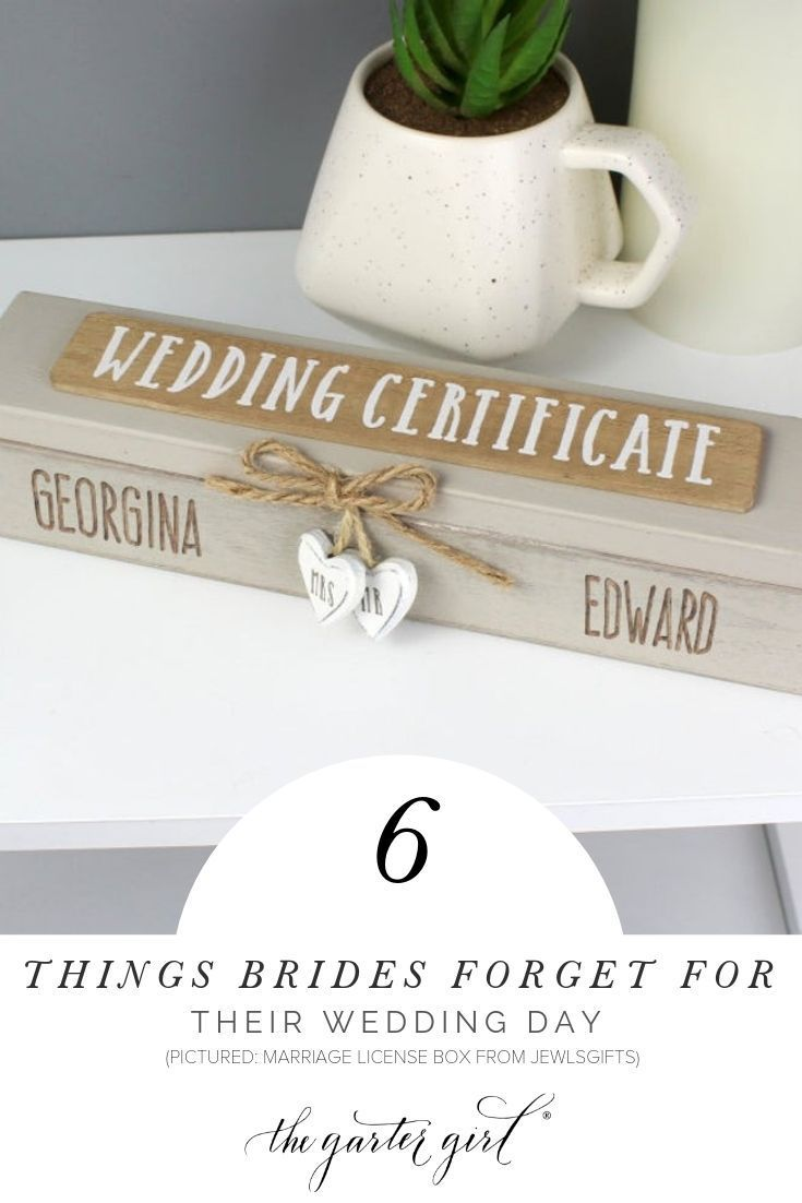 Top Items Brides Often Forget For The Wedding Day Wedding Day Wedding Certificate Morning Wedding