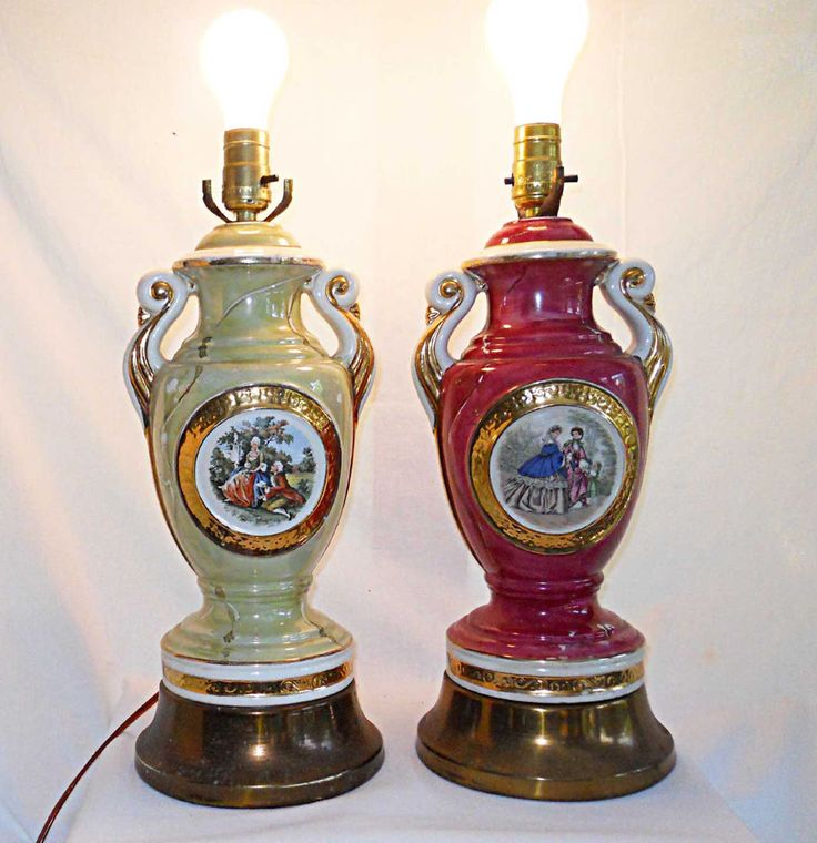 Vintage Antique Lamps Unmatched Pair Classical Urn French Country Scene  Regency38 best Vintage Lamps images on Pinterest   Vintage lamps  . Antique French Lamps On Ebay. Home Design Ideas